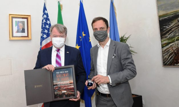 American Consul visiting the Port of Trieste