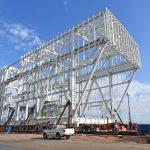 Cimolai, four iron structures for LNG terminal started from Porto Nogaro