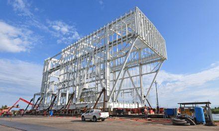 Cimolai, partiti da Porto Nogaro 4 moduli per terminale LNG