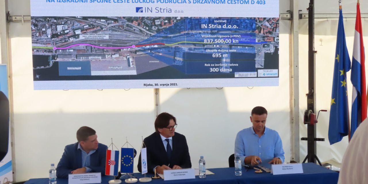 Porto di Fiume, Authority firma i contratti per nuovo collegamento stradale