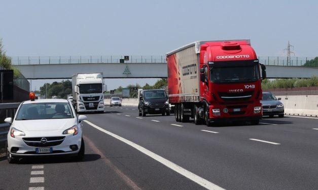 Autovie Venete, iniziati i test di guida assistita per mezzi pesanti