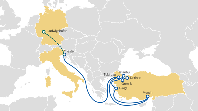 MSC launches a new rail service from Trieste to Ludwigshafen